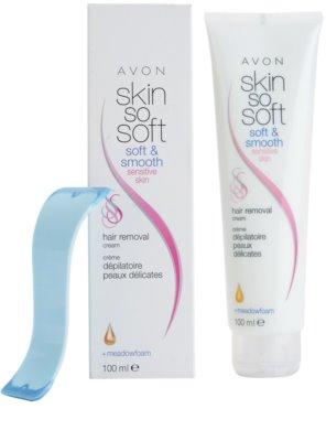 Avon Skin So Soft Soft and Smooth creme depilatório para pele sensível 1