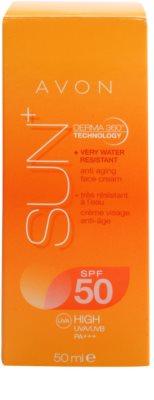 Avon Sun omlazující voděodolný opalovací krém na obličej SPF 50 2