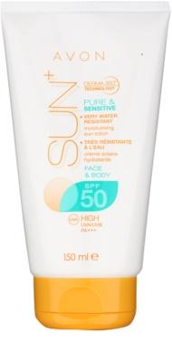 Avon Sun водостійке молочко для засмаги для обличчя та тіла