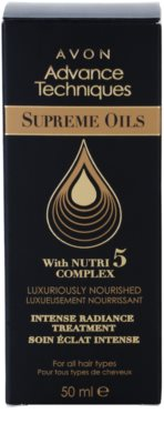 Avon Advance Techniques Supreme Oils інтенсивна поживна сиворотка з розкішними маслами для всіх типів волосся 3