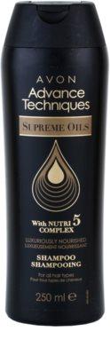 Avon Advance Techniques Supreme Oils sampon intens nutritiv cu ulei de lux pentru toate tipurile de par