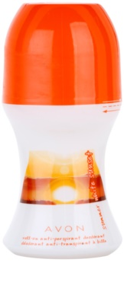 Avon Summer White Sunset desodorante roll-on para mujer