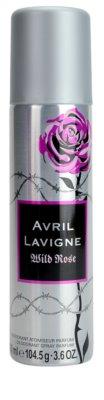 Avril Lavigne Wild Rose deodorant Spray para mulheres