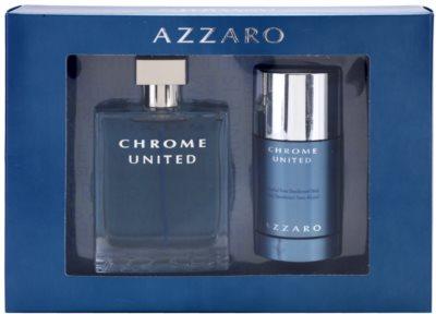 Azzaro Chrome United lote de regalo