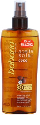 Babaria Sun Aceite Solar олійка для засмаги SPF 30