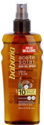 Babaria Sun Aceite Solar olejek do opalania SPF 10