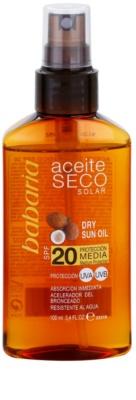 Babaria Sun Aceite Solar aceite seco solar SPF 20