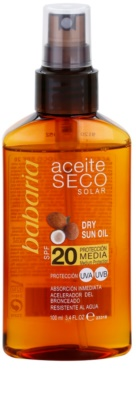 Babaria Sun Aceite Solar száraz olaj napozáshoz SPF 20