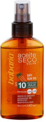 Babaria Sun Aceite Solar aceite seco solar SPF 10