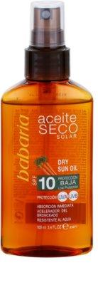 Babaria Sun Aceite Solar óleo seco solar SPF 10