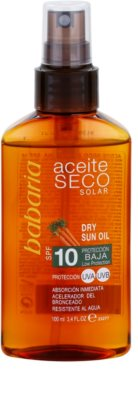 Babaria Sun Aceite Solar Trockenöl zum bräunen SPF 10