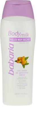 Babaria Almendras tělové mléko pro suchou pokožku