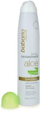 Babaria Aloe Vera desodorizante em spray com aloé vera 1