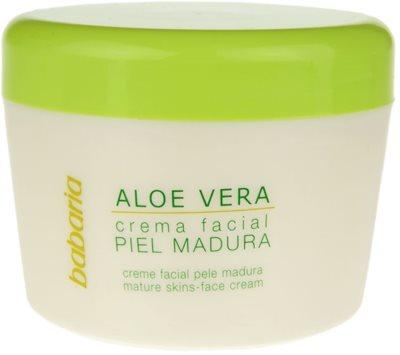 Babaria Aloe Vera creme facial para pele madura