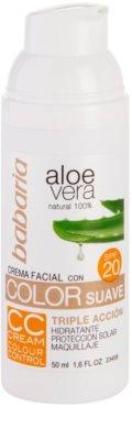 Babaria Aloe Vera CC krema SPF 20 3