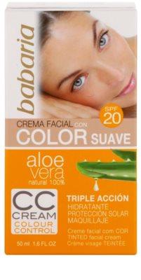 Babaria Aloe Vera CC krema SPF 20 4