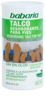 Babaria Aloe Vera desodorizante para pés em pó