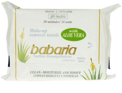 Babaria Aloe Vera tisztító törlőkendő Aloe Vera tartalommal