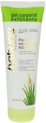 Babaria Aloe Vera exfoliante corporal para la ducha con aloe vera