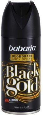 Babaria Black Gold desodorante en spray
