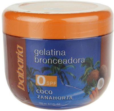 Babaria Sun Bronceador želatina za podporo porjavelosti s kokosom in korenjem