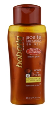 Babaria Sun Bronceador масло з мерехтливими частинками крем для підсилення засмаги