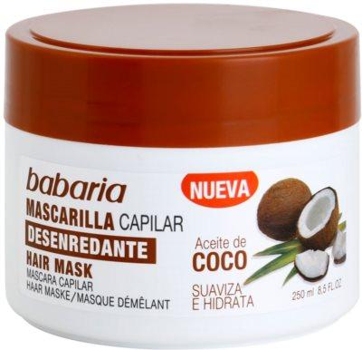 Babaria Coco Hydratisierende Maske für das Haar
