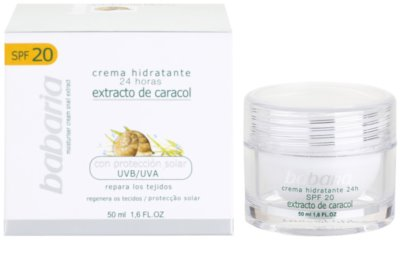 Babaria Extracto De Caracol Feuchtigkeitscreme mit Snail Extract 1