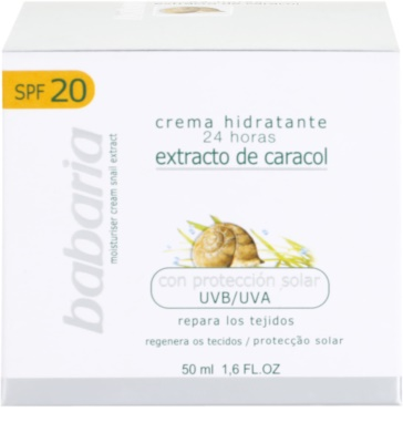 Babaria Extracto De Caracol Feuchtigkeitscreme mit Snail Extract 4