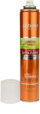 Babaria Ginseng lak za lase ekstra močno utrjevanje 1