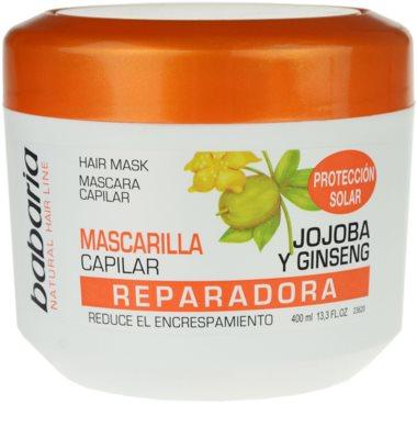 Babaria Ginseng mascarilla para cabello dañado, químicamente tratado