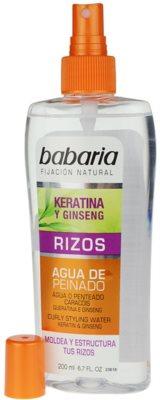 Babaria Ginseng spray para dar definición al peinado para cabello ondulado 1