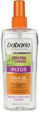 Babaria Ginseng spray para dar definición al peinado para cabello ondulado