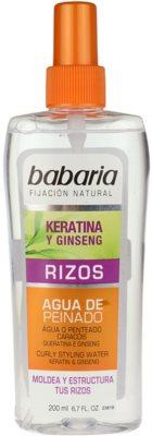 Babaria Ginseng spray styling para cabelo ondulado