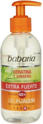 Babaria Ginseng gel de cabelo fixação extra forte