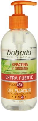 Babaria Ginseng gel para el cabello fijación extra fuerte