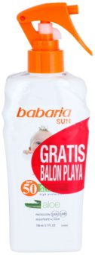 Babaria Sun Infantil napozó spray gyermekeknek SPF 50 1