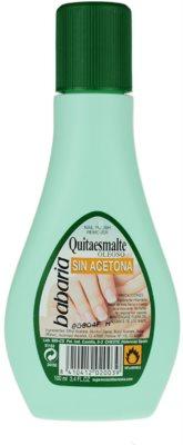 Babaria Nail Care removedor de verniz  sem acetona