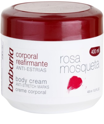 Babaria Rosa Mosqueta creme corporal refirmante with extracts of wild roses