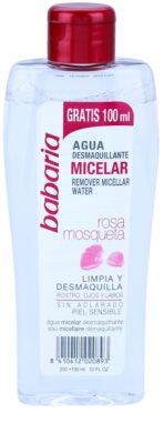 Babaria Rosa Mosqueta agua micelar limpiadora para pieles sensibles