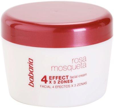 Babaria Rosa Mosqueta crema facial 4 efectos