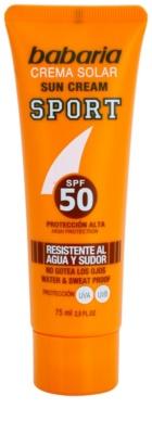 Babaria Sun Sport creme solar facial SPF 50