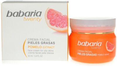 Babaria Twenty creme facial para pele oleosa 1