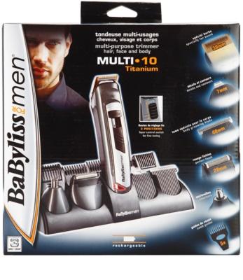 BaByliss For Men Multi 10 Titanium haj- és szakállnyíró 3