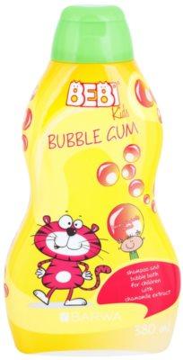 Barwa Bebi Kids Bubble Gum champô e espuma de banho 2 em 1