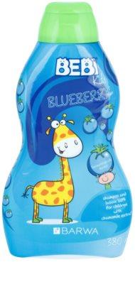 Barwa Bebi Kids Blueberry champô e espuma de banho 2 em 1