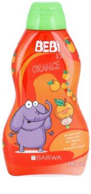 Barwa Bebi Kids Orange champô e espuma de banho 2 em 1