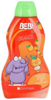 Barwa Bebi Kids Orange šampón a pena do kúpeľa 2v1