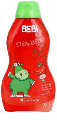 Barwa Bebi Kids Strawberry champô e espuma de banho 2 em 1
