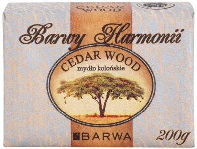 Barwa Harmony Cedar Wood Feinseife mit feuchtigkeitsspendender Wirkung 1
